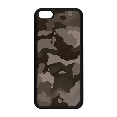 Background For Scrapbooking Or Other Camouflage Patterns Beige And Brown Apple Iphone 5c Seamless Case (black) by Nexatart