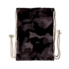 Background For Scrapbooking Or Other Camouflage Patterns Beige And Brown Drawstring Bag (small) by Nexatart