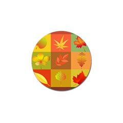 Autumn Leaves Colorful Fall Foliage Golf Ball Marker (10 Pack) by Nexatart