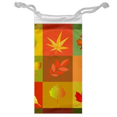 Autumn Leaves Colorful Fall Foliage Jewelry Bag by Nexatart
