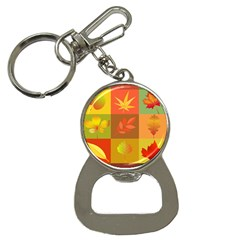 Autumn Leaves Colorful Fall Foliage Button Necklaces by Nexatart