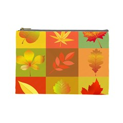 Autumn Leaves Colorful Fall Foliage Cosmetic Bag (large)  by Nexatart