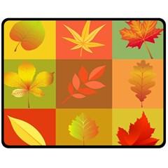 Autumn Leaves Colorful Fall Foliage Fleece Blanket (medium)  by Nexatart