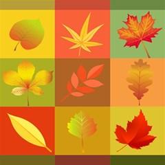 Autumn Leaves Colorful Fall Foliage Magic Photo Cubes