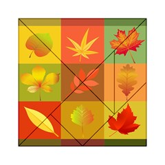 Autumn Leaves Colorful Fall Foliage Acrylic Tangram Puzzle (6  X 6 ) by Nexatart