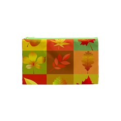 Autumn Leaves Colorful Fall Foliage Cosmetic Bag (xs) by Nexatart