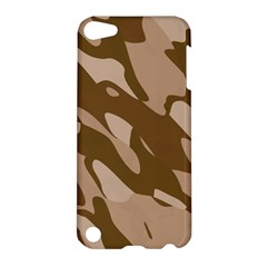 Background For Scrapbooking Or Other Beige And Brown Camouflage Patterns Apple Ipod Touch 5 Hardshell Case by Nexatart