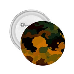 Background For Scrapbooking Or Other Camouflage Patterns Orange And Green 2 25  Buttons by Nexatart