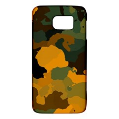 Background For Scrapbooking Or Other Camouflage Patterns Orange And Green Galaxy S6 by Nexatart