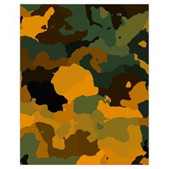 Background For Scrapbooking Or Other Camouflage Patterns Orange And Green Drawstring Bag (small) by Nexatart