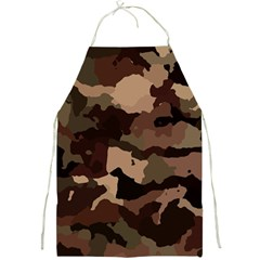 Background For Scrapbooking Or Other Camouflage Patterns Beige And Brown Full Print Aprons by Nexatart