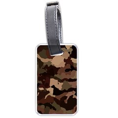 Background For Scrapbooking Or Other Camouflage Patterns Beige And Brown Luggage Tags (one Side)  by Nexatart
