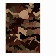 Background For Scrapbooking Or Other Camouflage Patterns Beige And Brown Small Garden Flag (two Sides) by Nexatart