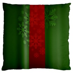 Background Christmas Large Flano Cushion Case (two Sides) by Nexatart