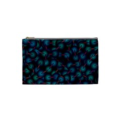 Background Abstract Textile Design Cosmetic Bag (small)  by Nexatart