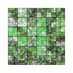 Background Of Green Squares Acrylic Tangram Puzzle (6  x 6 )