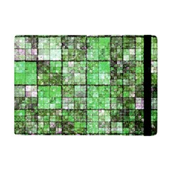 Background Of Green Squares Apple Ipad Mini Flip Case by Nexatart
