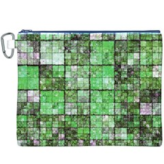 Background Of Green Squares Canvas Cosmetic Bag (XXXL)