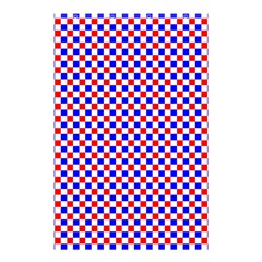 Blue Red Checkered Shower Curtain 48  X 72  (small)  by Nexatart