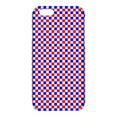 Blue Red Checkered iPhone 6/6S TPU Case by Nexatart