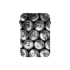 Black And White Doses Cans Fuzzy Drinks Apple Ipad Mini Protective Soft Cases by Nexatart
