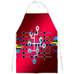 Board Circuits Trace Control Center Full Print Aprons by Nexatart