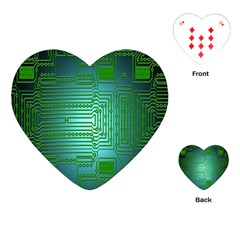 Board Conductors Circuits Playing Cards (heart)  by Nexatart