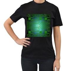 Board Conductors Circuits Women s T Shirt (black) by Nexatart