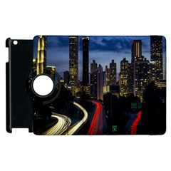 Building And Red And Yellow Light Road Time Lapse Apple Ipad 3/4 Flip 360 Case