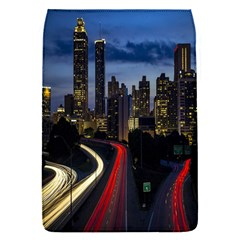 Building And Red And Yellow Light Road Time Lapse Flap Covers (s)  by Nexatart
