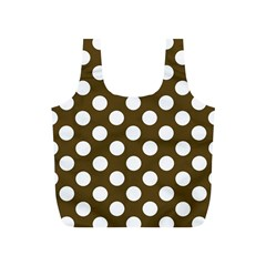 Brown Polkadot Background Full Print Recycle Bags (s)