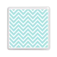 Chevrons Zigzags Pattern Blue Memory Card Reader (square)  by Nexatart