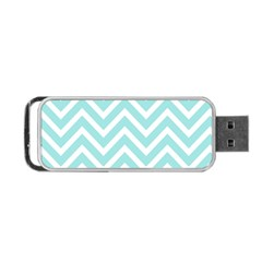 Chevrons Zigzags Pattern Blue Portable Usb Flash (two Sides) by Nexatart