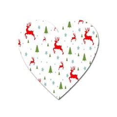 Christmas Pattern Heart Magnet by Nexatart