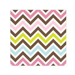 Chevrons Stripes Colors Background Small Satin Scarf (square) by Nexatart