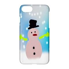 Christmas Snowman Apple iPhone 7 Hardshell Case by Nexatart
