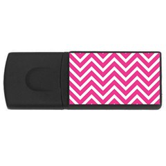 Chevrons Stripes Pink Background Usb Flash Drive Rectangular (4 Gb) by Nexatart