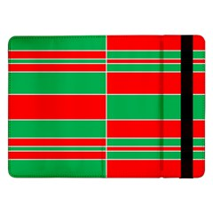 Christmas Colors Red Green Samsung Galaxy Tab Pro 12 2  Flip Case by Nexatart