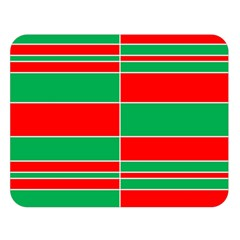Christmas Colors Red Green Double Sided Flano Blanket (large)  by Nexatart