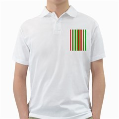 Christmas Holiday Stripes Red green,white Golf Shirts