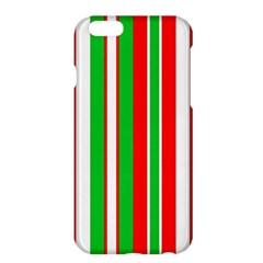 Christmas Holiday Stripes Red Green,white Apple Iphone 6 Plus/6s Plus Hardshell Case by Nexatart
