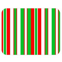 Christmas Holiday Stripes Red Green,white Double Sided Flano Blanket (medium)  by Nexatart