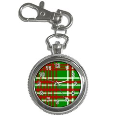 Christmas Colors Red Green White Key Chain Watches by Nexatart