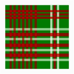 Christmas Colors Red Green White Medium Glasses Cloth by Nexatart