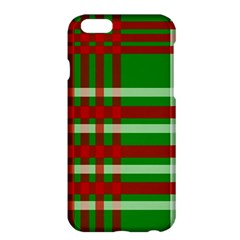 Christmas Colors Red Green White Apple Iphone 6 Plus/6s Plus Hardshell Case by Nexatart