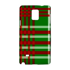 Christmas Colors Red Green White Samsung Galaxy Note 4 Hardshell Case by Nexatart