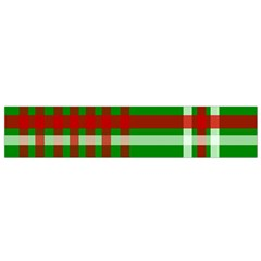 Christmas Colors Red Green White Flano Scarf (small) by Nexatart