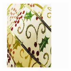 Christmas Ribbon Background Small Garden Flag (two Sides) by Nexatart