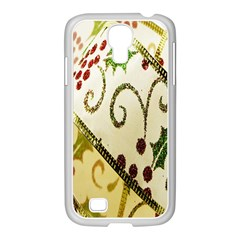 Christmas Ribbon Background Samsung GALAXY S4 I9500/ I9505 Case (White)