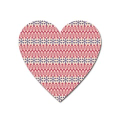 Christmas Pattern Vintage Heart Magnet by Nexatart